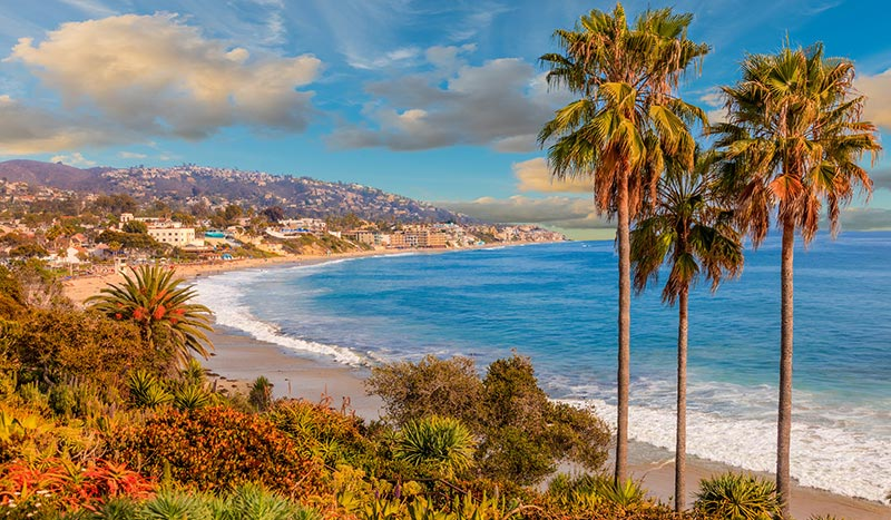Laguna Beach at California USA