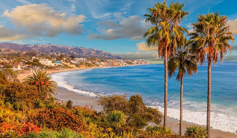 Laguna Beach at California USA